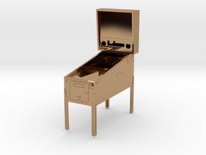 Trophy - Mini Pinball Cabinet v3 - 1:20 Scale in Polished Brass
