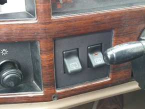 Driver Side Switch Panel for 84-96 XJ or MJ in Black Natural Versatile Plastic