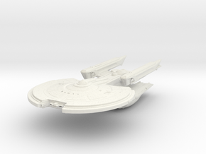 YorkTown Class VII  Refit  BattleCruiser in White Natural Versatile Plastic