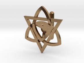 Celtic Cufflink in Natural Brass