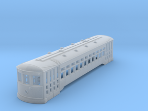 HO Scale 51' Standard Streetcar Body in Smooth Fine Detail Plastic