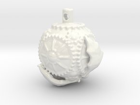 HolidayOrnament 01 in Gloss White Porcelain
