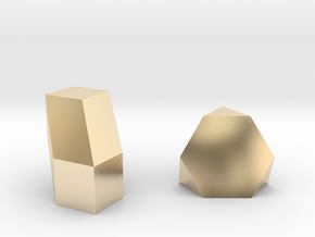 Geometric Rockz  in 14k Gold Plated Brass
