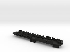 B&QT 6000 O Scale Solid Floor #2a in Black Natural Versatile Plastic