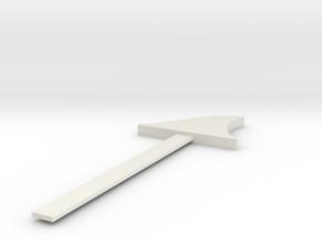 Shark Fin Bookmark in White Natural Versatile Plastic