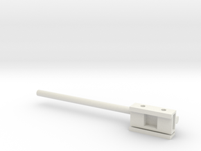 Axon Headstage Adapter With 12cm Rod in White Natural Versatile Plastic