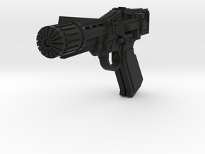 Colonial Blaster (Battlestar Galactica TOS), 1/6 in Black Natural Versatile Plastic