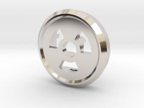 Trit Nuke Ring Part Slim in Rhodium Plated Brass