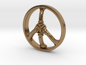 Ring Part Peace in Natural Brass