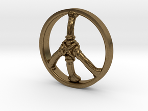 Ring Part Peace in Natural Bronze