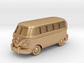 VW Van Charm & Keychain in Natural Bronze