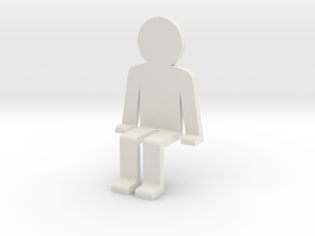 Sitting guy funny in White Natural Versatile Plastic