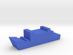 Game Piece, Blue Force Frigate in Blue Processed Versatile Plastic