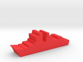 Game Piece, Red Force Frigate in Red Processed Versatile Plastic