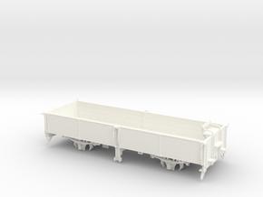 S1e-116   O-Wagen mit Bremse Pollo 750mm in White Processed Versatile Plastic