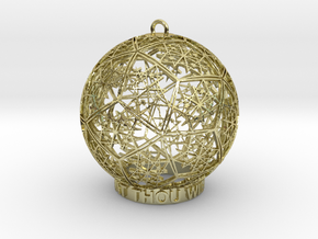 Thelema Ornament in 18k Gold