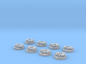 8x Revell Imperial Star Destroyer II Turrets in Frosted Ultra Detail