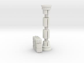 The Crazy Column Puzzle in White Natural Versatile Plastic