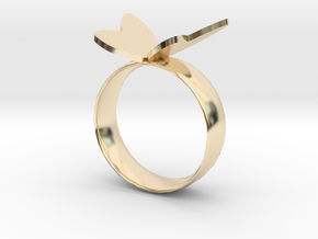 Butterfly RIng in 14K Yellow Gold