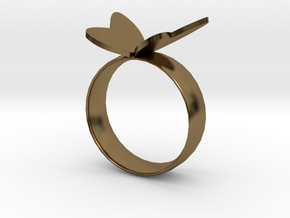 Butterfly RIng in Polished Bronze