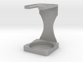 Drip Brush and Shaving Stand in Aluminum