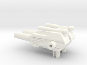 Titans Return: ChromeDome pistol 1.0 in White Strong & Flexible Polished