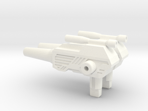 Titans Return: ChromeDome pistol 2.0 in White Strong & Flexible Polished