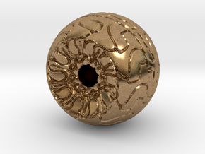 Ornamented Eyeball in Natural Brass