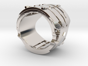 Dead Space Engineering Suit lvl3 ring - 18mm in Rhodium Plated Brass