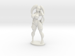 Vermana in Plastic 50mm (About 2 inches tall) in White Strong & Flexible