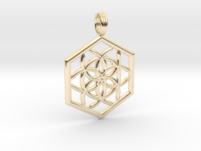 SPACECORE in 14K Yellow Gold
