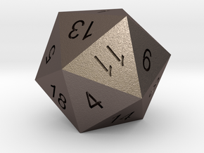 Classic d20 in Stainless Steel