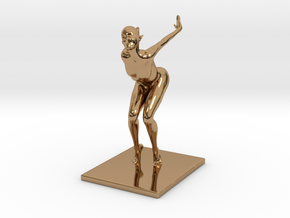 Coco Rocha Pose 313 in Polished Brass