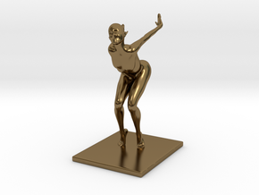 Coco Rocha Pose 313 in Polished Bronze