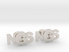 Monogram Cufflinks NSG in Platinum