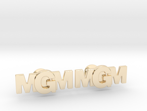 Monogram Cufflinks MMG in 14k Gold Plated Brass