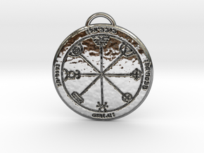 Third Pentacle of Mercury in Fine Detail Polished Silver