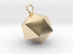 An Icosahedron Earring in 14K Yellow Gold