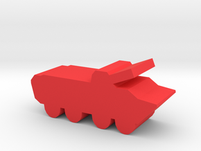 Game Piece, Red Force BTR-80 in Red Processed Versatile Plastic
