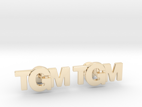 Monogram Cufflinks TMG in 14k Gold Plated Brass