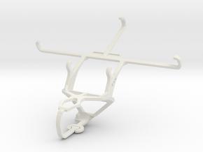 Controller mount for PS3 & QMobile Noir E8 in White Natural Versatile Plastic
