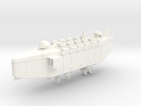 Last Exile Anatoray Battleship in White Strong & Flexible Polished