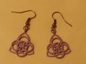 Celtic Earrings in Polished Bronzed Silver Steel