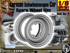 1-6 Schwimmwagen Spare wheel in White Natural Versatile Plastic