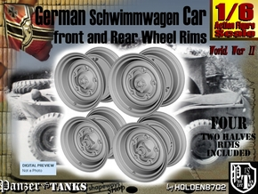 1-6 Schwimmwagen Rim Set3 in White Natural Versatile Plastic