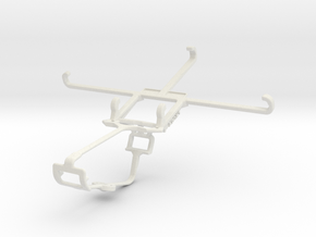 Controller mount for Xbox One & Yezz Monte Carlo 5 in White Natural Versatile Plastic