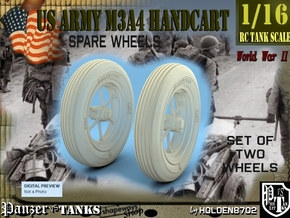 1-16 Wheels For M3A4 Handcart in White Natural Versatile Plastic
