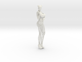 Sexy Wireframe Woman Hipoly 35cm in White Natural Versatile Plastic: Large