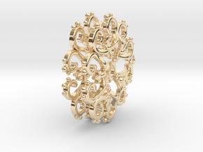 Filigree Star Earrings in 14k Gold Plated Brass
