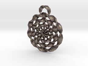 TwistedRings in Polished Bronzed Silver Steel